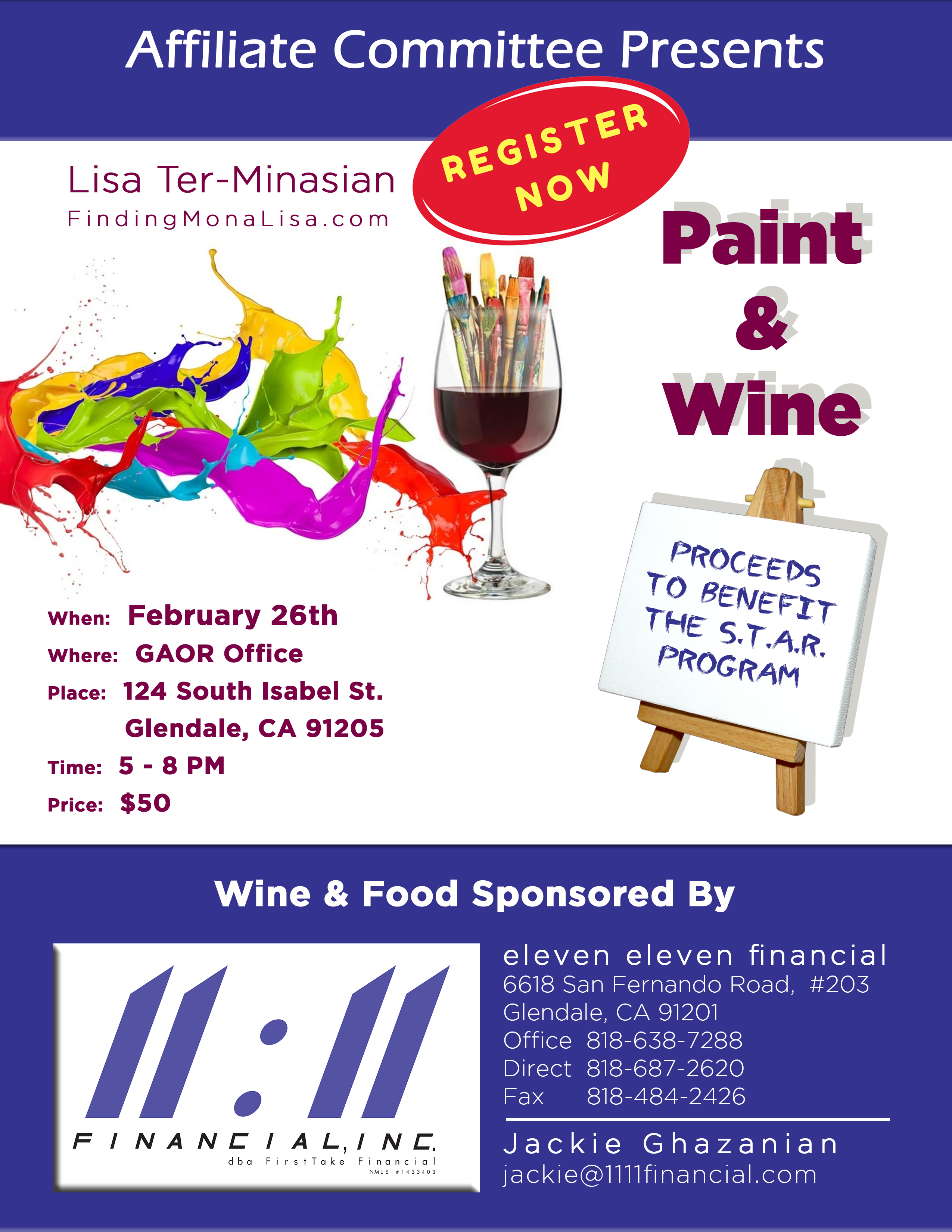 Paint Night at Glendale Association of Realtors