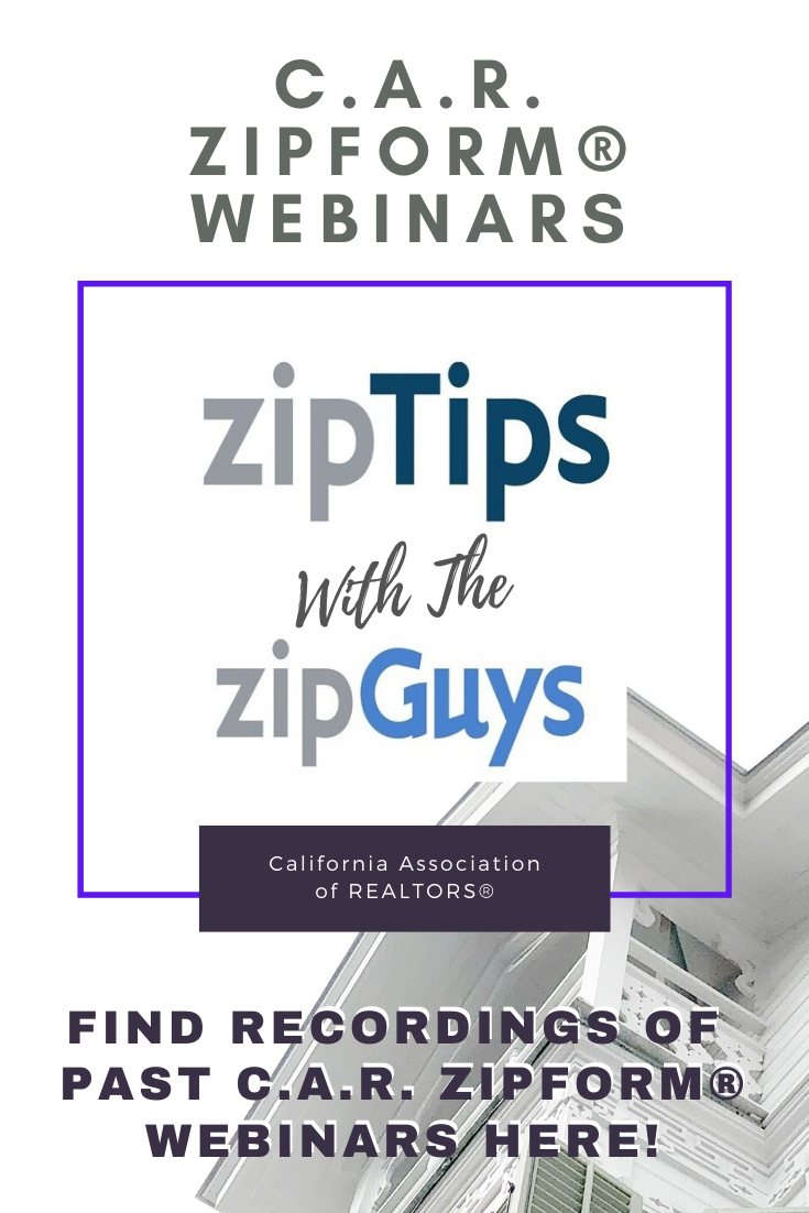 zipTip From The zipGuys - zipForm Webinars